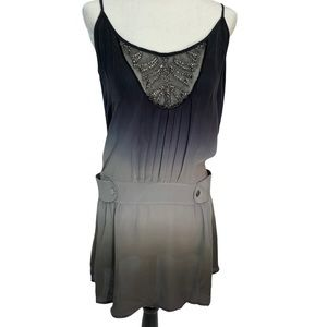 Guess by Marciano 100% Silk Grey Ombre Mini Dress